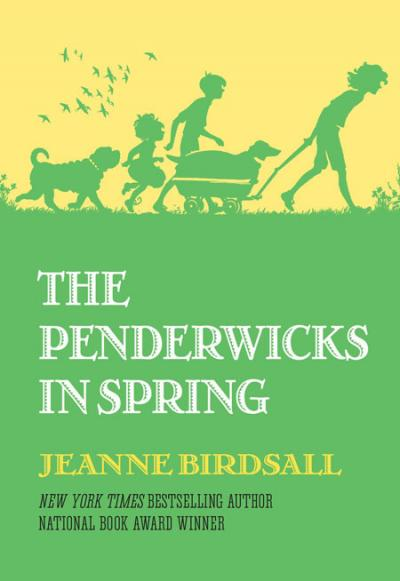 Green and yellow cover of The Penderwicks in Spring written by Jeanne Birdsall