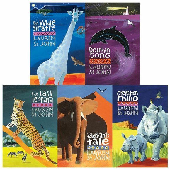 Book covers of the White Giraffe series (five books)